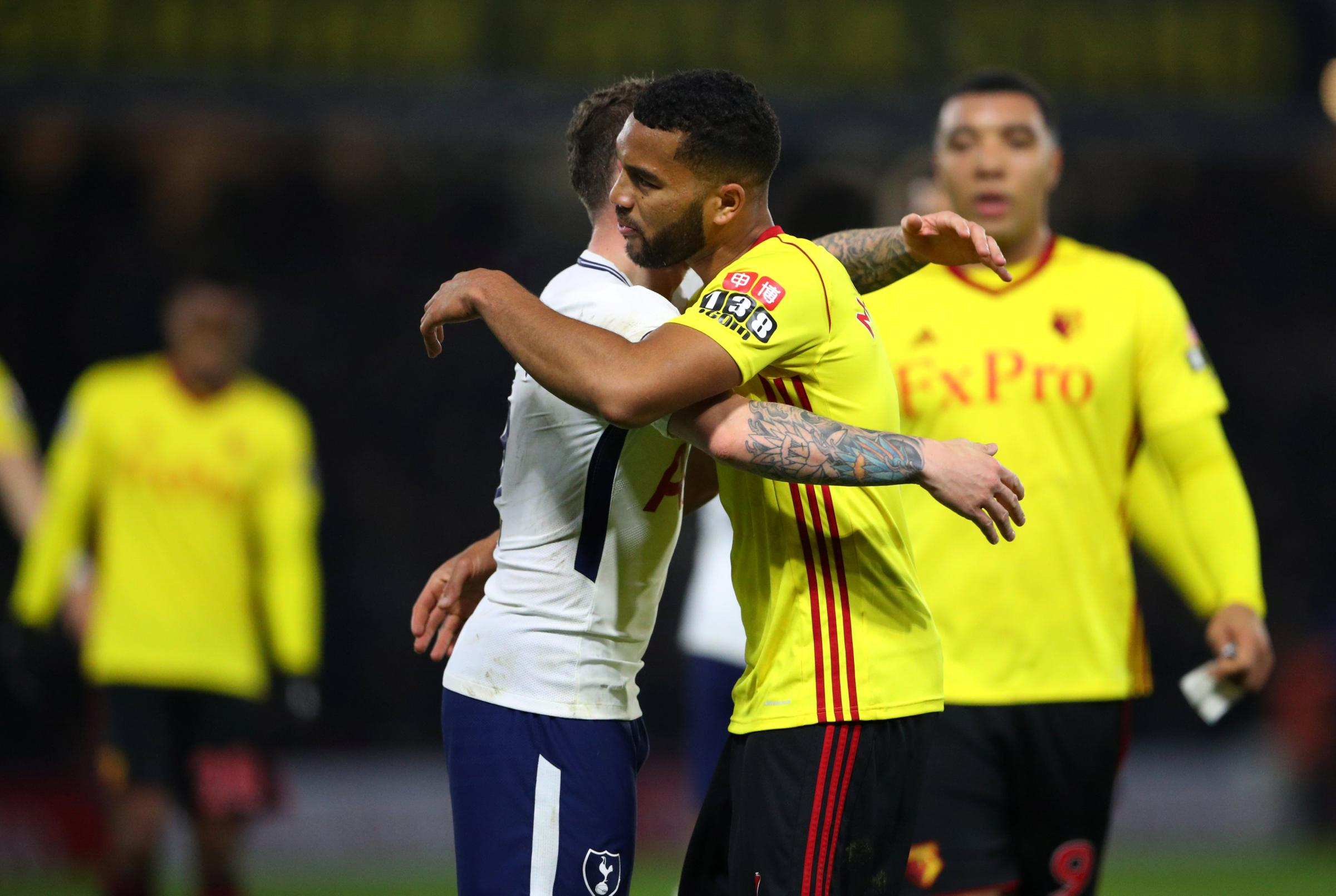 Watford settle for a point against 10-man Tottenham